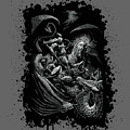 St. George And Dragon T-shirt by Stanley Morrison