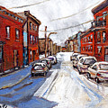 St Henri Depanneur Canadian Paintings Mini Montreal Masterpieces For Sale Petits Formats A Vendre  by Carole Spandau