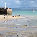 St. Ives, Harbour Beach by John R Moore