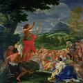 St John The Baptist Preaching by II Baciccio - Giovanni B Gaulli