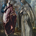 St. John The Evangelist And St. Francis Of Assisi by El Greco