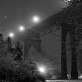 St. Johns Bridge On Snowy Evening by Zeb Andrews