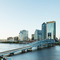 St Johns River Skyline, Jacksonville, Florida by Kay Brewer