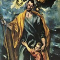 St Joseph And The Christ Child 1599 by El Greco