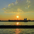 St Lawrence Sunset 3 by Randall Weidner