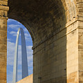 St Louis Arch And Eads Bridge   by Garry McMichael