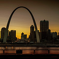 St Louis Arch At Sunset by Randy Kostichka