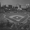 St. Louis Cardinals Busch Stadium Black White Creative 10 by David Haskett II