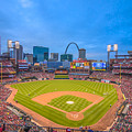 St. Louis Cardinals Busch Stadium Creative Blue by David Haskett II