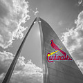 St. Louis Cardinals Busch Stadium Gateway Arch 1 by David Haskett II