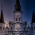 St. Louis Cathedral At Night by Jarrod Erbe