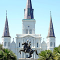 St. Louis Cathedral From Jackson Square by Robert Meyers-Lussier