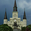 St Louis Cathedral In Jackson Square by Dave Sribnik