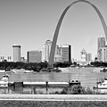 St Louis City Scape In Black And White by Ginger Wakem