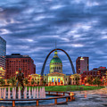 St Louis Gateway Arch 777 Old St Louis County Court House Kiener Plaza St Louis Art by Reid Callaway