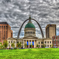 St Louis Gateway Arch 8 Old St Louis County Court House Art by Reid Callaway