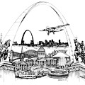 St. Louis Highlights Version 1 by Dennis Bivens