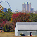 St Louis Skyline From Illinois by Garry McMichael