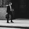 St. Louis Street Photography - Man Walking On Sidewalk by Dylan Murphy