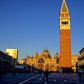 St Marks In Venice In Afternoon Sun by Michael Henderson