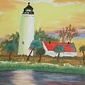 St Marks Lighthouse Fl 3 by Warren Thompson