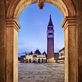 St Mark's Square Arch - Venice by Barry O Carroll