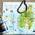St. Martin St. Maarten Map by Jerome Stumphauzer