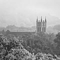 St Martins Church Winona Black And White Panorama by Kari Yearous