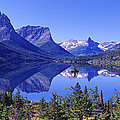St Mary Lake Glacier National Park Mt by Panoramic Images