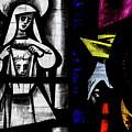 St Mary Redcliffe Stained Glass Close Up C by Jacek Wojnarowski