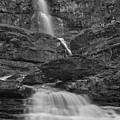 St Mary Triple Cascades - Black And White by Adam Jewell