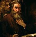 St Matthew And The Angel by Rembrandt Harmensz van Rijn