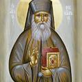 St Nektarios Of Aigina by Julia Bridget Hayes