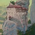 St Nicholas Anapapsas Monastery - Meteora - Greece by Dan Bozich
