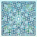 St Omer - Blues by Fine Art Labyrinths