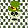 St Paddys Skull  by Kathleen Sartoris