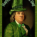 St Patrick's Day Ben Franklin by Gravityx9 Designs