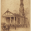 St. Paul's, Broadway, N.y. by Charles Frederick William Mielatz