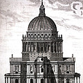 St. Pauls Drawn By Christopher Wren by Wellcome Images