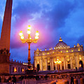 St. Peters Cathedral At Night by Steven Myers