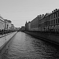 St Petersburg Waterway - Black And White by Lee Hart