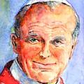 St. Pope Paul John II by Betty M M Wong