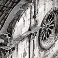 St. Saviour Church Window - Black And White by Stuart Litoff
