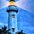 Lights On For You At St. Simons by Mark Tisdale