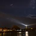 St. Simons Island Lighthouse At Night by Chris Bordeleau