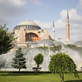 St Sophia Mosque And Fountain In Park by Axiom Photographic