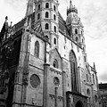 St Stephens Cathedral Vienna In Black And White by Angela Rath