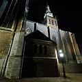 St. Steven's Church In Nijmegen At Night by Merijn Van der Vliet