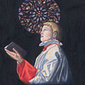 St. Thomas Episcopal Nyc Choir Boy by Laurie Tietjen