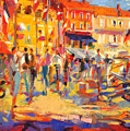 St Tropez Promenade by Peter Graham
